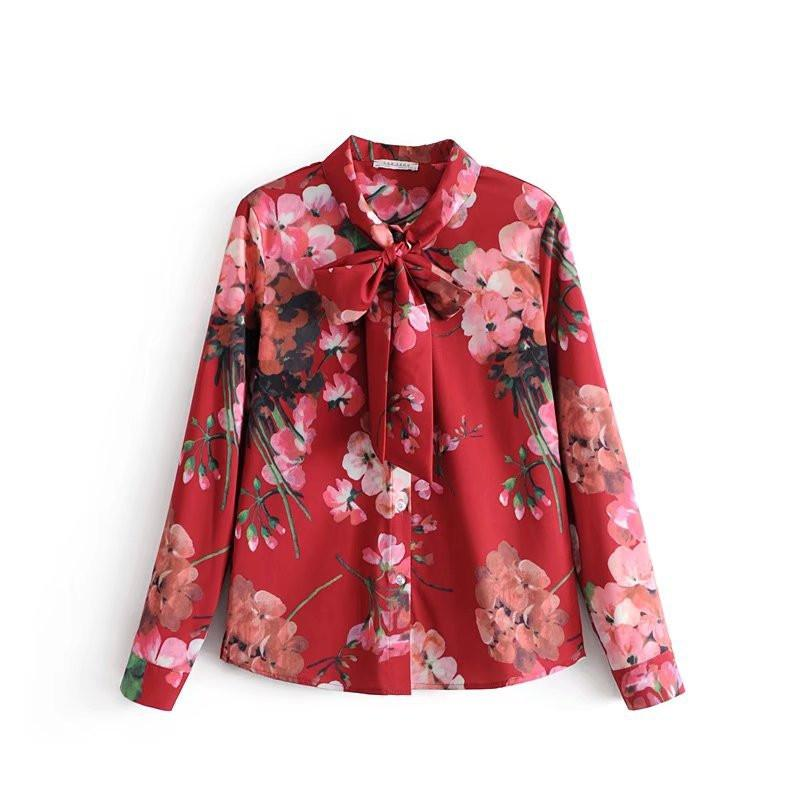 floral tied blouses