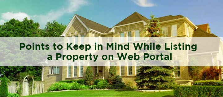 listing a property on web portal