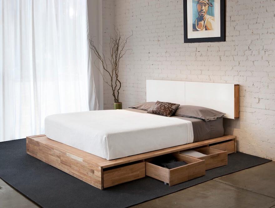 Storage Space Under Bed